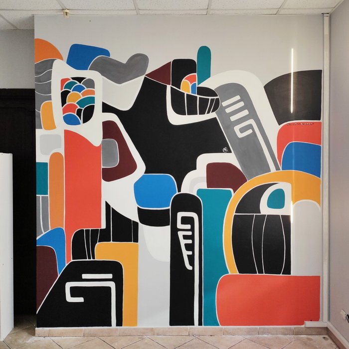 Painting of walls in the office by @elizabet_kazennova Minsk City